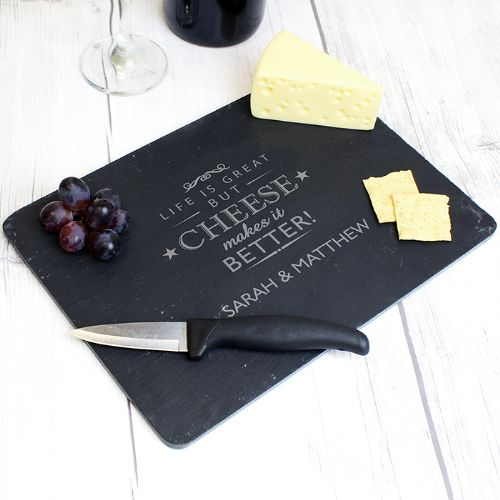 Personalised Decorative Slate Cheeseboard